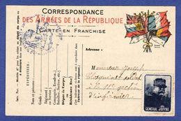 Correspondance Des Armées Timbre JOFFRE ( TTB état) Z690 - Guerre 1914-18