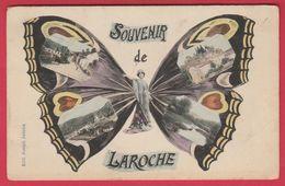 Laroche - Souvenir De ... Petites Vues De La Commune Dans La Papillon - 1909 ( Voir Verso ) - La-Roche-en-Ardenne