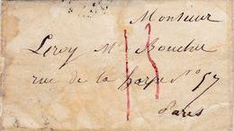 PSC Pour Paris (75) - 6 Septembre 1836 - CAD Rond Type 1807 - Taxe Manuelle 13 Rouge + Cachet - 1801-1848: Precursori XIX