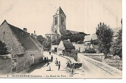 14 - OUISTREHAM - La Route Du Port  (Animée) - Ouistreham
