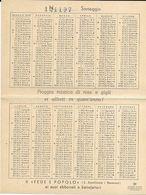 V-CALENDARIO TASCABILE 1940 FEDE E POPOLO - Kalenders