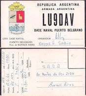 QSL LU9DAV Armada Argentina Base Naval De Pto. Belgrano To LU2CN Antartida Argentina - 13/06/1966 - Cygnus - Radio