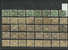Plaquette De 40 Ceres Numéros  53 , 55 , 56 Et 59  Lot 3 - 1871-1875 Cérès
