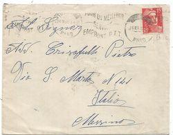 GANDON 15FR ROUGE LETTRE TOURCOING 26.IX .1950 POUR ITALIE TARIF SPECIAL - 1945-54 Marianne De Gandon