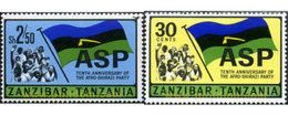 Ref. 628041 * MNH * - ZANZIBAR. 1967. 10th ANNIVERSARY OF AFRO-SHIRAZI PARTY . 10 ANIVERSARIO DEL PARTIDO AFRO-SHIRAZI - Zanzibar (1963-1968)