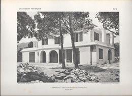 "L' HABITATION PROVENCALE - Pl.36. ""THALASSA"" Villa De Mlle RAINAUD Au Canadel (Var) Façade Sud - Arquitectura"