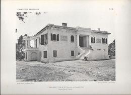 """L' HABITATION PROVENCALE - Pl.35. """"THALASSA"""" -  Villa De Mlle RAINAUD Au Canadel (Var) Façade Nord L'Entrée - Arquitectura"""