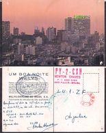 QSL PY2CXH San Pablo, Brasil To LU1ZF  Antartida Argentina - 15/10/1966 - Cygnus - Radio