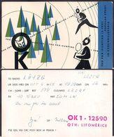 QSL OK1-12590 Checoslovaquia To LU1ZG  Antartida Argentina - 06/10/1966 - Cygnus - Radio