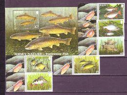 Jersey 2010 Fishes Freshwater Fishing 6v+1s\sh MNH** 15.00 € - Jersey