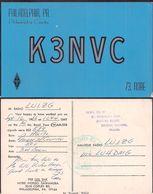 QSL K3NVC Philadelphia USA To LU1ZG  Antartida Argentina - 16/09/1966 - Cygnus - Radio