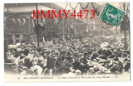CPA - ROUEN En 1911 - MILLENAIRE NORMAND - La Foule Acclamant La Reine Place Du Vieux Marché 76 Seine Maritime - LL N°14 - Rouen