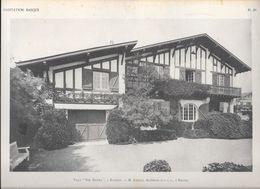 """HABITATION BASQUE - PL.20.  VILLA """" ENE MAÏTEA """" à BIARRITZ - M. CAZALIS, Architecte D.P.L.G. à Biarritz - Arquitectura"""