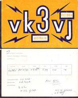 QSL VK3VJ - Victoria Australia To LU3ZI  Antartida Argentina - 20/10/1967 - Cygnus - Radio
