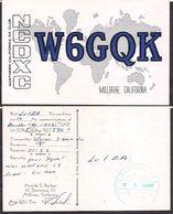 QSL W6GQK- Millbrae, CA USA  To LU1ZA Antartida Argentina - 22/10/1966 - Cygnus - Radio