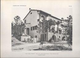 """L' HABITATION PROVENCALE - Pl 14. """" LOU CAÏRE POULIT """" Villa De M. Et Mme Charles DAMON à Sainte-Maxime (Var) - Arquitectura"""
