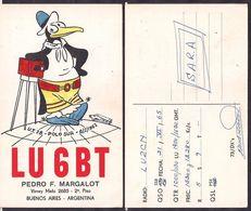 QSL LU6BT Argentina To LU2CN Antartida Argentina - 21/06/1965 - Cygnus - Radio