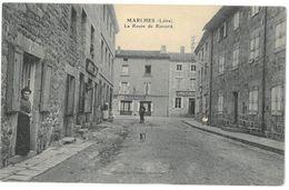 CPA MARLHES - Route De Riotord - Animée - Cliche A. Béraud - Autres Communes