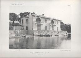 """L' HABITATION PROVENCALE - Pl. 16. Villa """" LA PASSERELLE"""" à Sainte-Maxime (Var) Façade Sur Mer . - Arquitectura"""