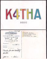 QSL K4THA Cocoa Beach FL USA To LU1ZC Antartida Argentina - 08/09/1964 - Cygnus - Radio