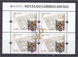 Portugal EUROPA 2020 Rotas Do Correio Antigo Continente Lettre Poste - Post