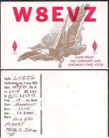 QSL W8EVZ Cincinnati Ohio USA To LU2ZG Antartida Argentina - 28/08/1966- Cygnus - Radio