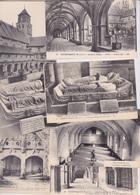 49- FONTEVRAULT ANCIENNE ABBAYE CLOITRE TOMBEAUX  DE RICHARD COEUR DE LION TRANSEPT REFECTOIRE - 7 CPA - France