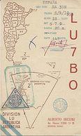 X120881 CARTE QSL RADIO AMATEUR LU7BO ARGENTINE ARGENTINA BUENOS AIRES EN 1953 - Radio Amateur