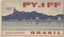 X120886 CARTE QSL RADIO AMATEUR PY1FF BRESIL BRASIL BRAZIL RIO DE JANEIRO  EN 1953 - Radio Amateur