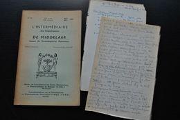 L'INTERMEDIAIRE DES GENEALOGISTES 75 1958 Généalogie Héraldique Bourgeois De Bruxelles Pierre Tombale De Sinsin - Histoire