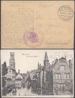 "Bataillon Allemand - Feldpost (1916) + Grand Cachet ""Kaiserliche Marine / VI. Seebataillon"" (Aigle). Superbe ! - Weltkrieg 1914-18"