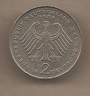 "Germania Occidentale - Moneta Circolata Da 2 Marchi  ""zecca J"" Km149 - 1988 - [ 7] 1949-… : RFA - Rep. Fed. Alemana"
