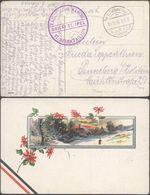"""Bataillon Allemand - Feldpost (Breedene 1915) + Briefstempel """"Kaiserliche Marine / VI. Seebataillon"""" - WW I"""