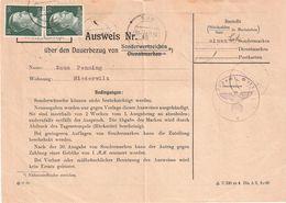 Ausweis über Den Dauerbezug Von Sonderwertzeichen: Postamt Wilz - 1940-1944 Occupation Allemande