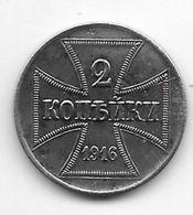 *empire  Military Coinage WW I 2 Kopeks 1916 A Km 22 - [ 2] 1871-1918 : Imperio Alemán