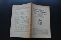 L' INTERMEDIAIRE DES GENEALOGISTES 50 1954 Généalogie Héraldique Epitaphier Du Canton De Wavre Les GROSSE Famille Namur - Histoire