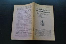 L' INTERMEDIAIRE DES GENEALOGISTES 49 1954 Généalogie Héraldique Epitaphier Du Canton De Wavre Fauconniers D'Arendonck - Histoire