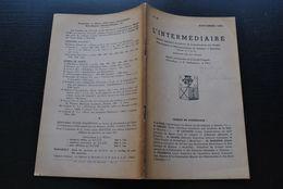 L' INTERMEDIAIRE DES GENEALOGISTES 48 1953 Généalogie Héraldique Epitaphier Wavre Fauconniers D'Arendonck Lefevre Obreen - Histoire