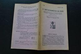 L' INTERMEDIAIRE DES GENEALOGISTES 46 1953 Généalogie Héraldique Epitaphier Wavre LOETS Liège Université De Louvain 1486 - Histoire