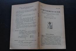 L' INTERMEDIAIRE DES GENEALOGISTES 45 1953 Généalogie Héraldique Epitaphier Wavre VERREYCKEN Université De Louvain 1486 - Histoire