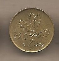 """Italia - Moneta Circolata Da 20 Lire """"ramo Di Quercia"""" Km97.2 - UNI261 - 1979 - 1946-… : Republic"""