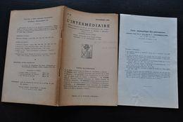 L' INTERMEDIAIRE DES GENEALOGISTES 42 1952 Généalogie Héraldique LE MIRE LOETS Sources Généalogiques Belges - Histoire