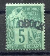 RC 17766 OBOCK COTE 45€ N° 4 TYPE ALPHÉ DUBOIS SURCHARGÉ NEUF (*) MNG - Neufs