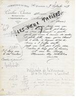 02 - Aisne - FOURDRAIN - Facture CUVILLIER-CHRETIEN - Commerce De Bois - 1919 - REF 149A - France