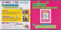 Encart Cartonné Timbre Adhésif 864A Marianne Et La Jeunesse TVP LV Oblitéré Lecture électronique En 3D Collector N°223 - 2013-... Marianne Van Ciappa-Kawena