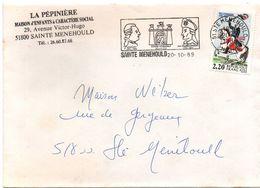 Sainte-Menehould 1989 Marne - Flamme Révolution Française - Roi Louis XVI & Drouet - Marcophilie (Lettres)