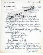 02 - Aisne - LAON - Facture PIERRARD - Bois, Matériaux De Construction - 1942 - REF 149A - 1900 – 1949