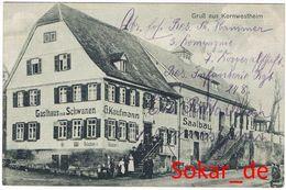 AK Kornwestheim Gasthaus Zum Schwanen Gel. Als Feldpost 1915, Baden-Württemberg - Kornwestheim