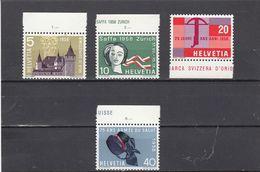 Suisse - Année 1958 - Neuf** - N°Zumstein 334/37** - Timbres De Propagande - Ungebraucht