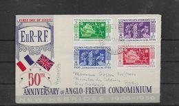 Nouvelles Hébrides Env. Souv. Ann. Condominium Anglo Français - Nuove Ebridi